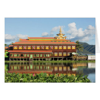 Monastery By A Lake Card