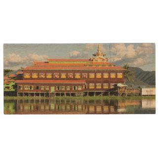 Monastery By A Lake Wood USB Flash Drive