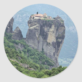 Monastery in Meteora, Greece Europe Classic Round Sticker