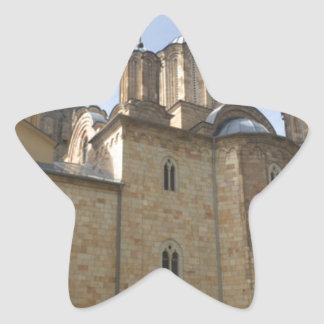 Monastery in Serbia Star Sticker