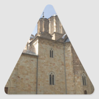 Monastery in Serbia Triangle Sticker