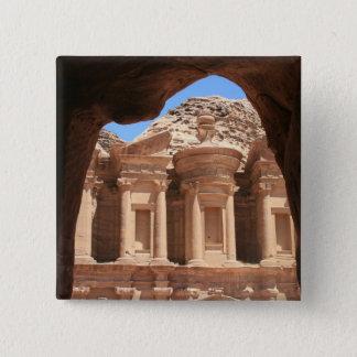 monastery petra 2 inch square button