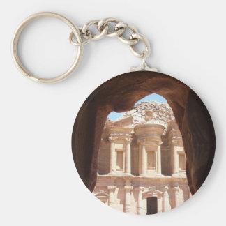 monastery petra ancient keychain