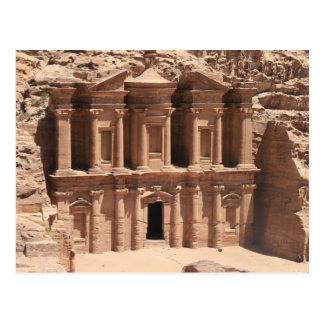 monastery petra full postcard