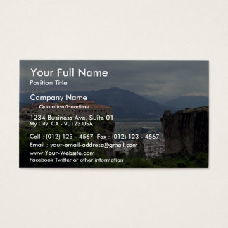 Monastery, The Great Meteora, Greece Business Card