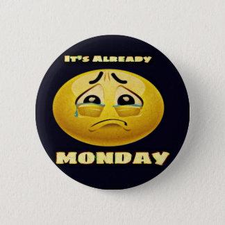Monday Blues 2 Inch Round Button