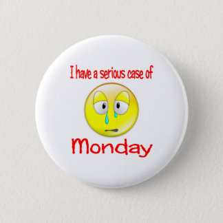 Monday Blues 2 Inch Round Button