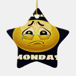 Monday Blues Ceramic Ornament