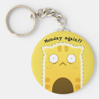Monday Cat keychain
