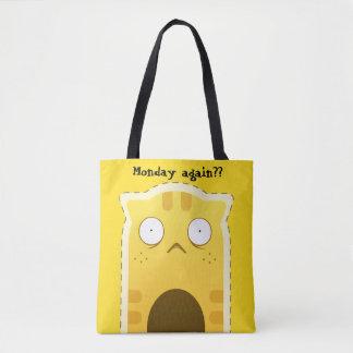 Monday Cat tote bag