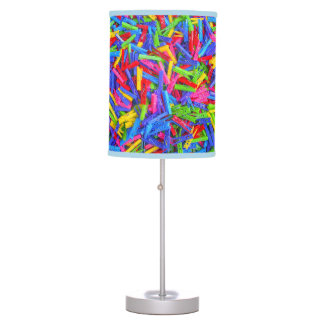 Monday Clothing Pins Multicolor Home Texture Desk Lamps