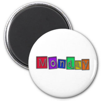 Monday colorful design! magnet
