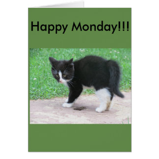 Monday greetings card
