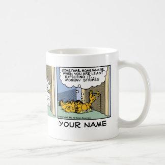 """""""Monday Strikes"""" Garfield Comic Strip Coffee Mug"""