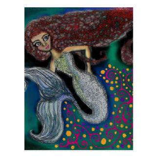 Monday the Mermaid. Postcard