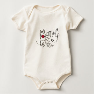 Mondays Baby Bodysuit