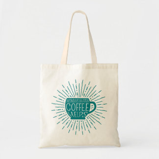 Mondays Happen; Coffee Helps Coffee Tote Bag teal