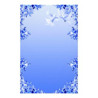 """""""Monde bleu"""" 16 de saule Papier À Lettre Personnalisable"""