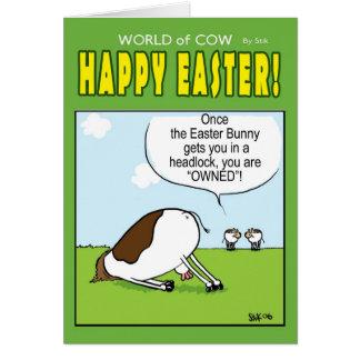 Monde de carte de Pâques de vache