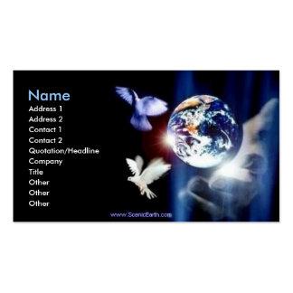 Monde entier dans son art de photo de carte de vis cartes de visite professionnelles