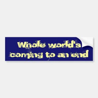 Monde entier se terminant autocollant de voiture