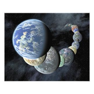 Mondes rocheux et terrestres tirage photo