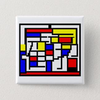 Mondrian 2 Inch Square Button
