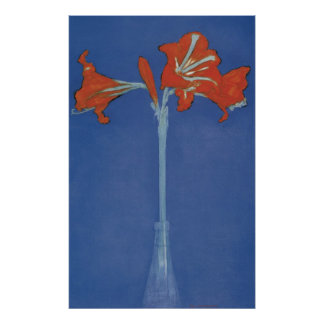 Mondrian Amaryllis in a Flash Poster