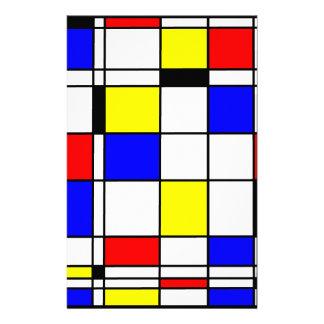 Mondrian art style personalized stationery
