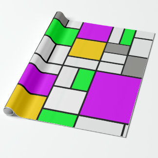 Mondrian art variant theme wrapping paper