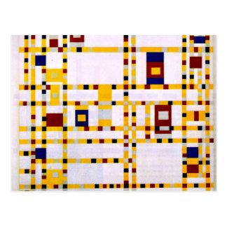 Mondrian - Broadway Boogie Woogie Postcard