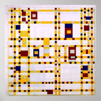 Mondrian - Broadway Boogie Woogie Poster