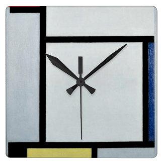 Mondrian - Composition, 1921 Square Wall Clock