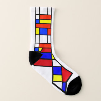 Mondrian - Composition II - Art Socks - Small Mens