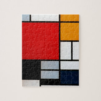 Mondrian - Composition with Large Red Plane Jigsaw Puzzle