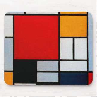 Mondrian - Composition with Large Red Plane Mouse Pad