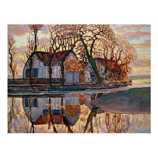 Mondrian - Farm near Duivendrecht Postcard