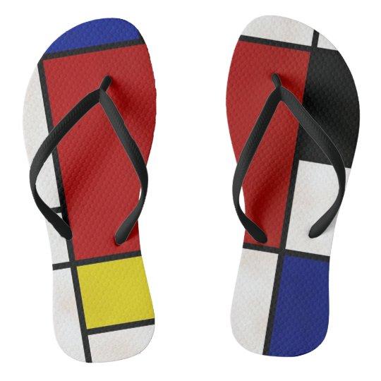 Mondrian Flip Flops
