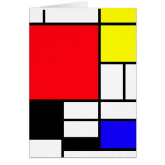 Mondrian Greeting Card Standard envelopes included