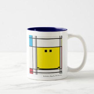 mondrian happy face mug