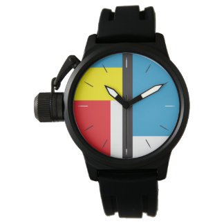 MONDRIAN HOMAGE | abstract original design Wristwatches