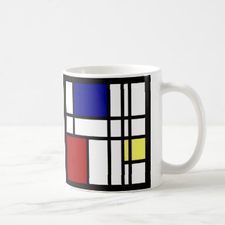 Mondrian Impression Art Coffee Mug
