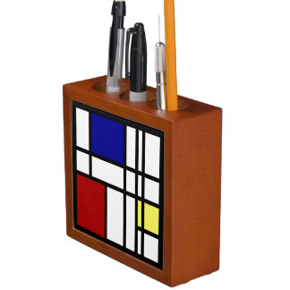 Mondrian Impression Art Desk Organizer
