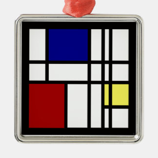 Mondrian Impression Art Metal Ornament