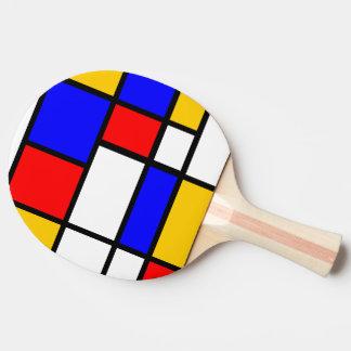 Mondrian inspiration ping pong paddle