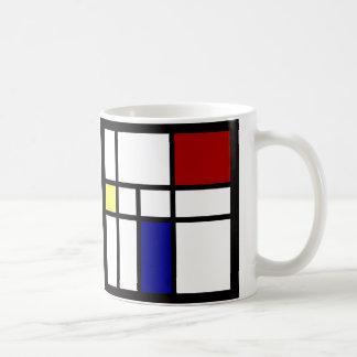 Mondrian Inspired Design Coffee Mug