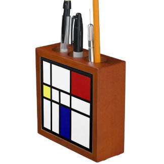 Mondrian Inspired Design Desk Organizer
