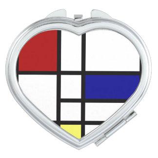 Mondrian Inspired Design Mirror For Makeup