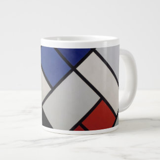 Mondrian inspired Mod Mug! Giant Coffee Mug