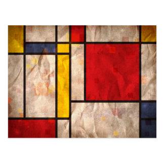 Mondrian Inspired Postcard